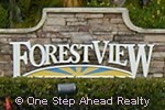 sign for Forest View