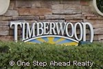 sign for Timberwood