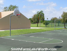 shoot some hoops on one of Smith Farm's two full basketball courts